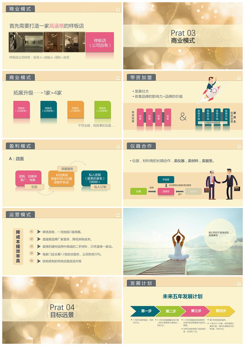 美容美体书_美容美体女性女人金色商业计划书 - 彩虹办公